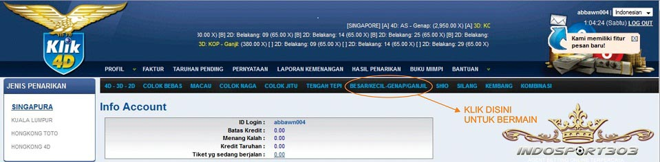 Tutorial Bermain / Pasang Togel Online Klik4d - Agen Togel ...