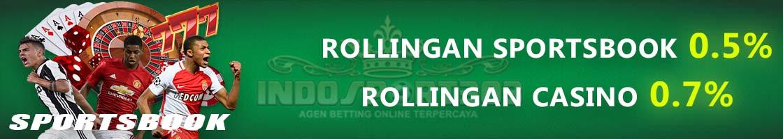 Bonus Rollingan Sportsbook, Bonus Rollingan Casino
