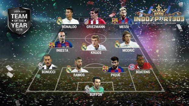 11 pemain yang masuk daftar tim terbaik UEFA 2016 du kutip agen bola online indosport303