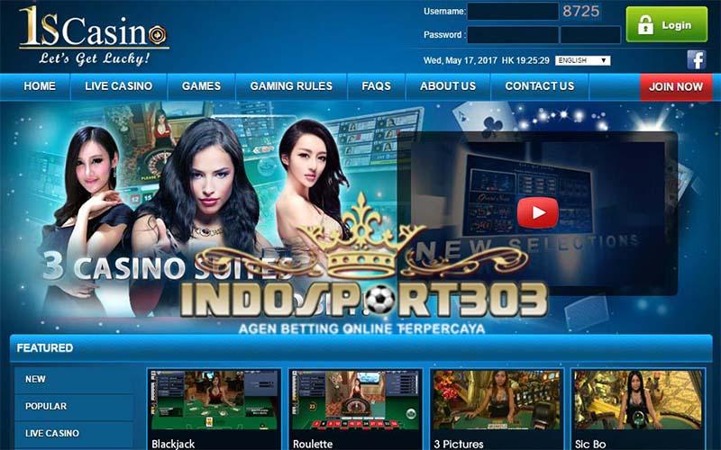 1scasino, online casino, live casino, agen betting terpercaya