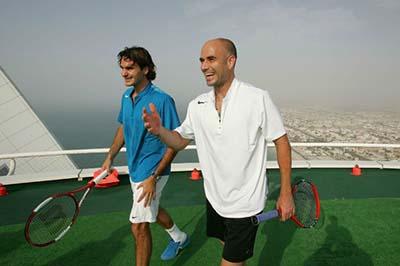 rooftop tennis, Dubai, berita unik, indosport303.com