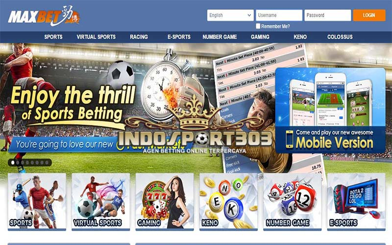 MAXBET, Agen Betting Online, Agen Betting Terpercaya, Sportsbook, casino, indosport303.com