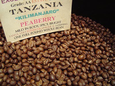 biji kopi, tanzania, peaberry, kopi, berita unik